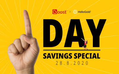 HelloGold x Boost 1-Day Only: Savings Special