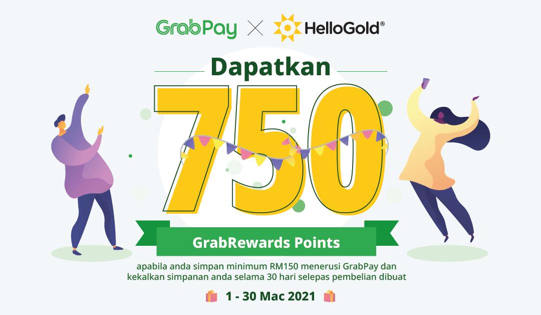 Promosi HelloGold x GrabPay 750