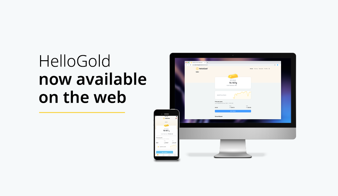HelloGold now available on the web