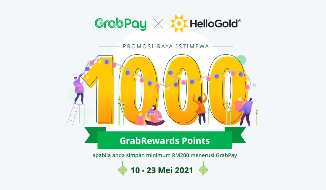 Promosi HelloGold x GrabPay Raya Isitimewa